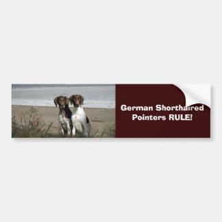German Shorthaired Pointer Bumper Sticker Car Bumper Sticker