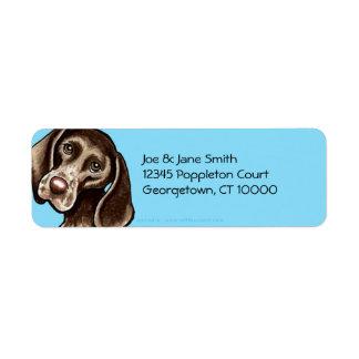German Shorthaired Pointer Carribean Custom Return Address Label