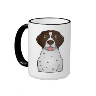 German Shorthaired Pointer Cartoon Ringer Mug