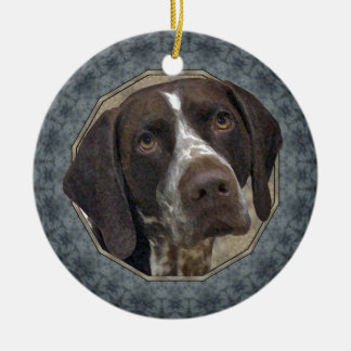 German Shorthaired Pointer Ceramic Ornament