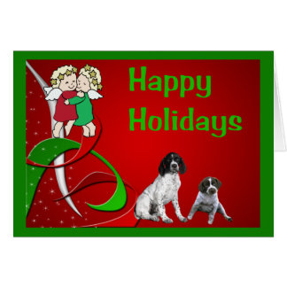 German Shorthaired Pointer Christmas Card Angels