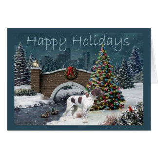 German Shorthaired Pointer Christmas Card Eve1