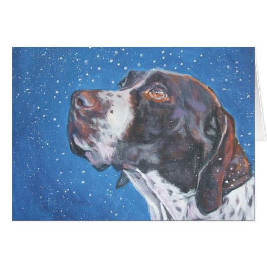German Shorthaired Pointer Christmas Card gsp