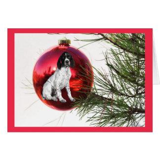 German Shorthaired Pointer Christmas Card HGBall1