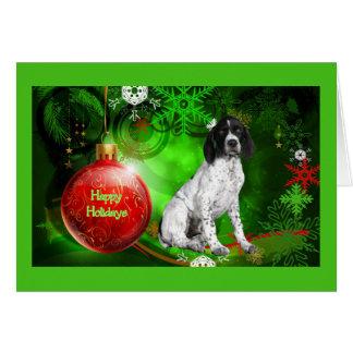 German Shorthaired Pointer Christmas Card RdBall2
