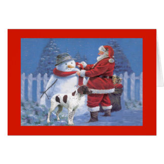 German Shorthaired Pointer Christmas Card Snow1