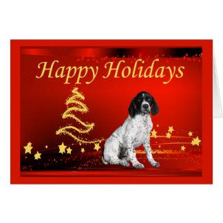 German Shorthaired Pointer Christmas Card Stars