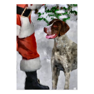 German Shorthaired Pointer Christmas Gifts Large Business Cards (Pack Of 100)