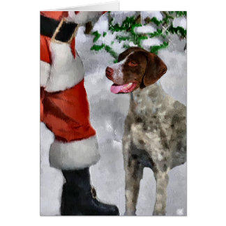 German Shorthaired Pointer Christmas Gifts Card