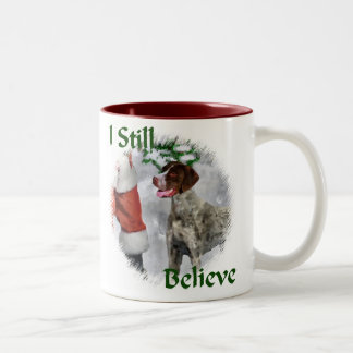 German Shorthaired Pointer Christmas Gifts Two-Tone Coffee Mug