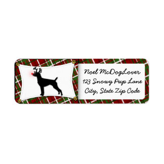 German Shorthaired Pointer Christmas Label
