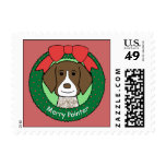 German Shorthaired Pointer Christmas Stamps