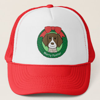 German Shorthaired Pointer Christmas Trucker Hat