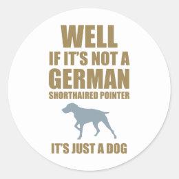 German Shorthaired Pointer Classic Round Sticker