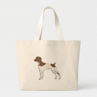german shorthaired pointer color silhouette jumbo tote bag