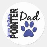 German Shorthaired Pointer Dad 2 Classic Round Sticker