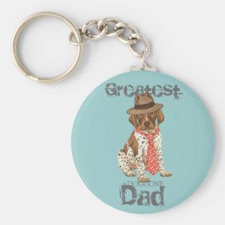 German Shorthaired Pointer Dad Keychain