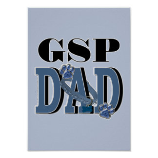 German Shorthaired Pointer DAD Poster