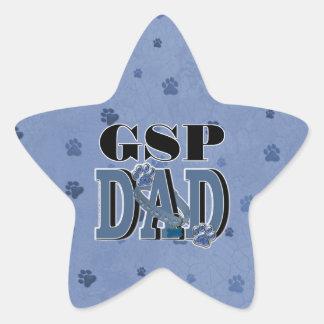 German Shorthaired Pointer DAD Star Sticker