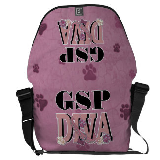 German Shorthaired Pointer DIVA Courier Bag