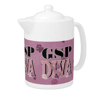 German Shorthaired Pointer DIVA Teapot