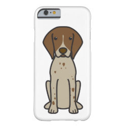German Shorthaired Pointer Dog Cartoon Barely There iPhone 6 Case