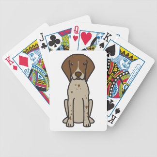German Shorthaired Pointer Dog Cartoon Bicycle Playing Cards