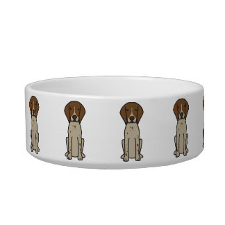 German Shorthaired Pointer Dog Cartoon Bowl