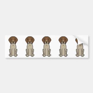 German Shorthaired Pointer Dog Cartoon Bumper Sticker