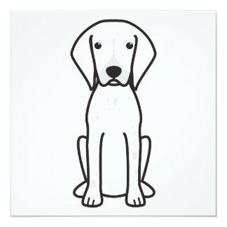 German Shorthaired Pointer Dog Cartoon Card