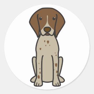 German Shorthaired Pointer Dog Cartoon Classic Round Sticker
