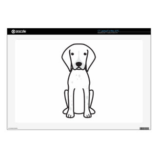 """German Shorthaired Pointer Dog Cartoon Decal For 17"""" Laptop"""