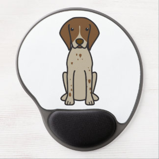 German Shorthaired Pointer Dog Cartoon Gel Mouse Pad