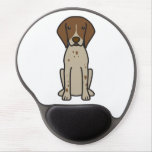 German Shorthaired Pointer Dog Cartoon Gel Mouse Pads