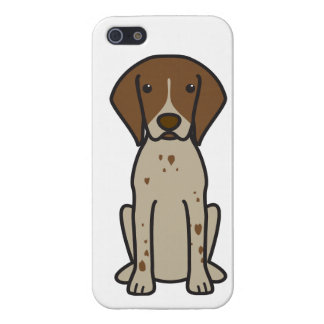 German Shorthaired Pointer Dog Cartoon iPhone 5 Cases