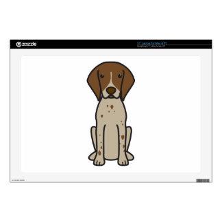 German Shorthaired Pointer Dog Cartoon Laptop Skin
