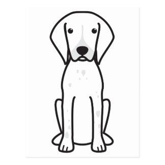 German Shorthaired Pointer Dog Cartoon Postcard