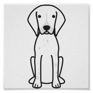 German Shorthaired Pointer Dog Cartoon Poster