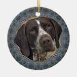 German Shorthaired Pointer Double-Sided Ceramic Round Christmas Ornament
