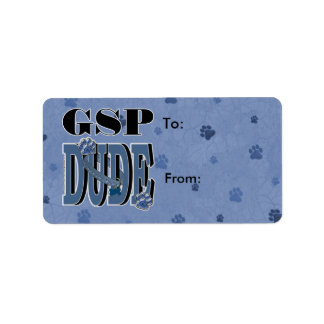 German Shorthaired Pointer DUDE Label