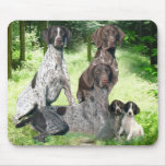 German Shorthaired Pointer Family Mousepad