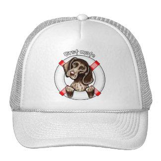 German Shorthaired Pointer First Mate Trucker Hats