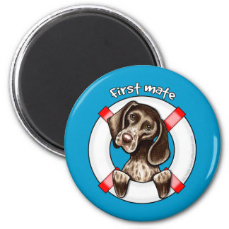 German Shorthaired Pointer First Mate 2 Inch Round Magnet