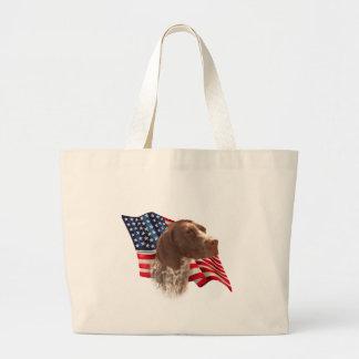 German Shorthaired Pointer Flag Jumbo Tote Bag