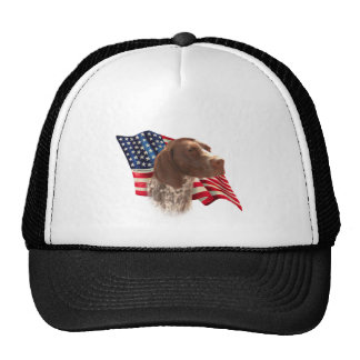 German Shorthaired Pointer Flag Trucker Hat