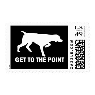 """German Shorthaired Pointer """"Get to the Point"""" Postage Stamp"""