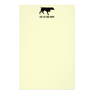 """German Shorthaired Pointer """"Get to the Point"""" Stationery"""