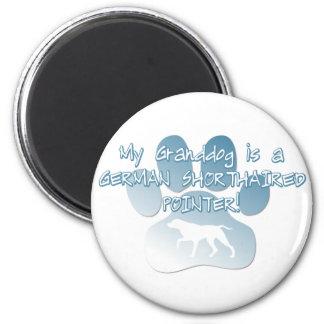 German Shorthaired Pointer Granddog 2 Inch Round Magnet