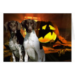 German Shorthaired Pointer Halloween Greeting Card