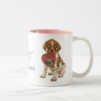 German Shorthaired Pointer Heart Mom Two-Tone Coffee Mug